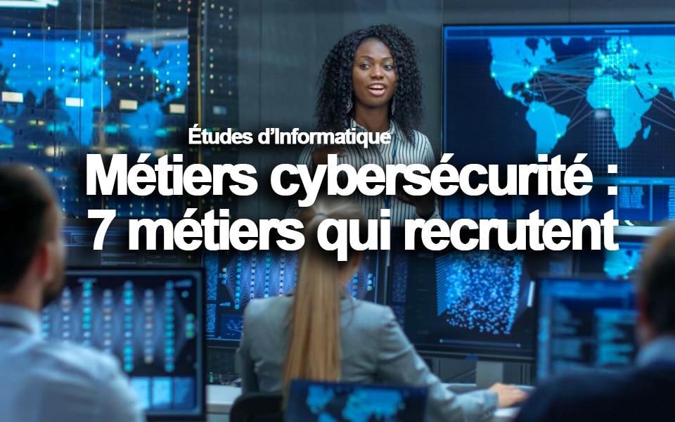 Métiers cybersécurité